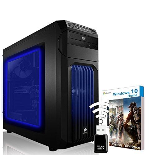 AGANDO Extreme Gaming PC | Intel Core i7 6700K 4x 4.0GHz | Turbo 4.2GHz | Nvidia GeForce GTX1080, MSI ARMOR 8G OC | 16GB RAM | 240GB SSD | 1000GB HDD | DVD-RW | Gigabyte Gaming Mainboard | USB3.0 | Killer LAN | Soundblaster X-Fi | WLAN | Windows 10 | 36 Monate Garantie | Computer für Multimedia, Gaming, Büro/Office + Gratis Spiel