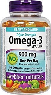 Webber Naturals Triple Strength Omega-3 900 mg EPA/DHA, 80 softgels