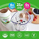Orgain Organic Plant Based Protein Powder, Creamy Chocolate Fudge - Vegan, Low Net Carbs, Non Dairy, Gluten Free, No Sugar Added, Soy Free, Kosher, Non-GMO, 2.03 Lb (Packaging May Vary) #3