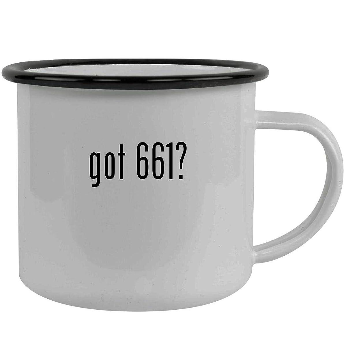 got 661? - Stainless Steel 12oz Camping Mug, Black
