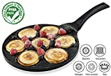 Gourmia GPA9515 Blini Pan With Induction Bottom Nonstick Silver Dollar Pancake Maker Features 7-Mold...