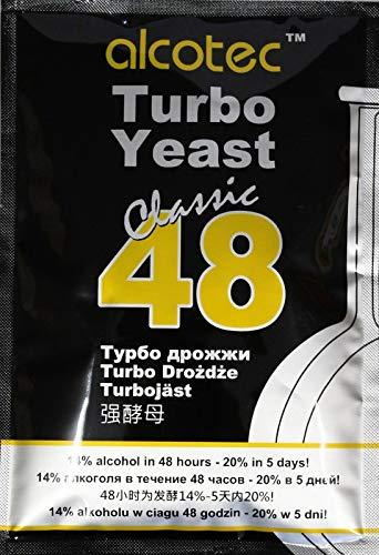 AlcoTec HUGBERT Turbohefe 48 Classic Vodka Gärhefe 20%, 1 Stück