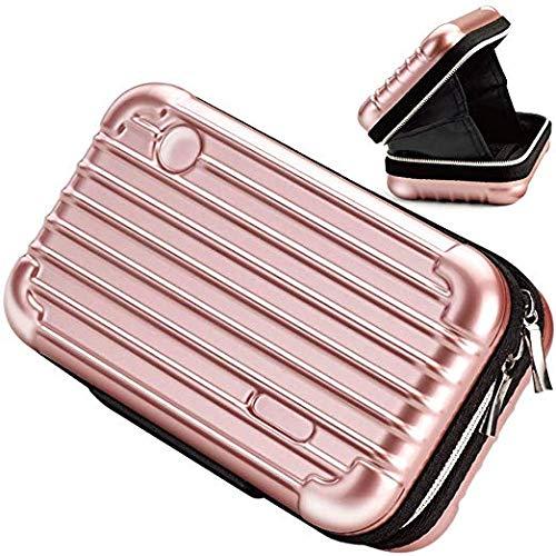 Poison Pills - Beauty Makeover Reisetasche mit Über-Nacht-Funktion Kosmetik Kosmetik-Etui Zug Hardbag mit Reißverschluss und Innentasche Wasserdicht/Antikollision/Stoßfest Frau (Roségold)
