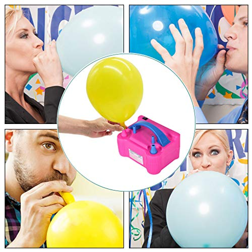Affordable (US IN STOCK) Air Balloon Pump Electric Portable Dual Nozzle Balloon Blower Pump Inflatio...