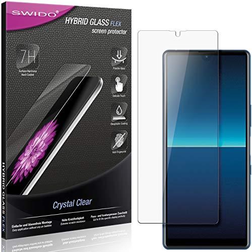 SWIDO Panzerglas Schutzfolie kompatibel mit Sony Xperia L4 Bildschirmschutz-Folie & Glas = biegsames HYBRIDGLAS, splitterfrei, Anti-Fingerprint KLAR - HD-Clear