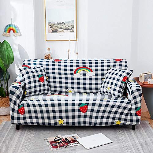 Fsogasilttlv Fundas de Sofás Cubierta para Sofá 1 Plaza, Funda de sofá de algodón con Estampado Floral, Funda de Toalla, Fundas de sofá para Sala de Estar Que protegen los Muebles J
