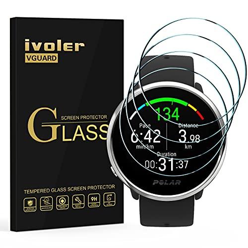 ivoler 4 Stücke Panzerglas Schutzfolie für Motorola Moto 360 (3. Generation, Version 2020) / Polar Grit X/Ignite/TicWatch Pro 3/3 LTE / 3 GPS, Panzerglasfolie Folie Bildschirmschutzfolie Hartglas