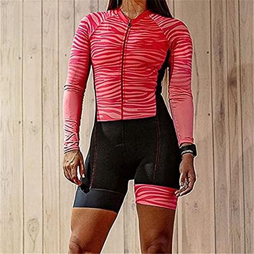 Damen Triathlon Radtrikot Overall Sommer Set Lauf Badeanzug Jersey Sportbekleidung (Color : Sky Blue, Size : XX-Small)