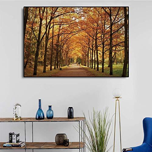 Decoración del hogar nórdico Paisaje Lienzo impresión Pintura Paisaje del Bosque Arte de la Pared póster Imagen Sala de Estar decoración del hogar Pintura sin Marco 30x45 cm