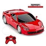 RASTAR Mando a distancia Ferrari coche, 1:24 Ferrari 458 Italia Control remoto, rojo Ferrari juguete