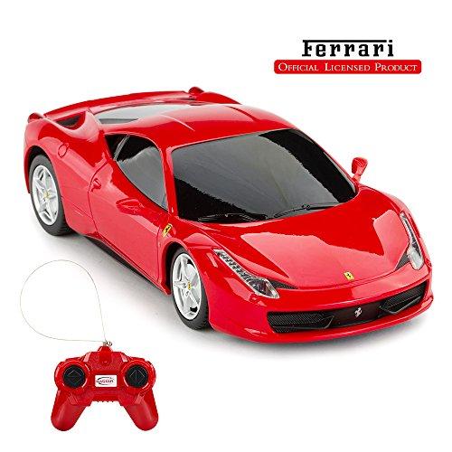 RASTAR Telecomando Ferrari Auto, 1:24 Ferrari 458 Italia Telecomando Auto, Rosso Ferrari Toy