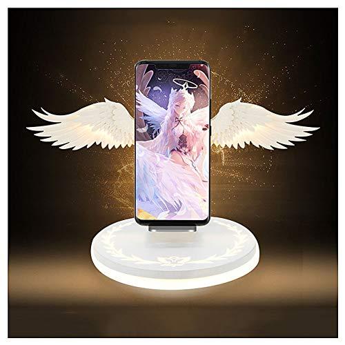 BJZP Fast Wireless Charger Qi 10W Engelsflügel Induktive Ladestation Wireless Ladegerät für iPhone XS/XR/X/8, Samsung Galaxy S10+/S10/S9+/S9 Huawei Mate 20 Pro Alle Qi-Fähige Geräte