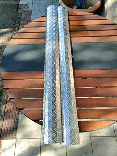 BA+ Protezione Laterale sottoporta in Alluminio mandorlato per Panda 4x4, protettore da Urti