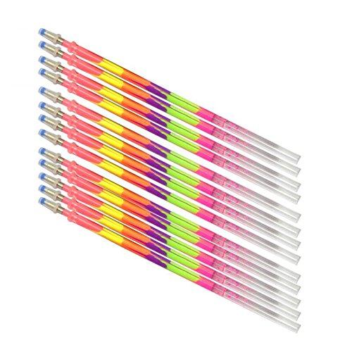 Bolígrafos de gel BB67, 12 unidades, tinta de color pastel con purpurina de neón creativa para dibujar y regalar en la escuela o la oficina