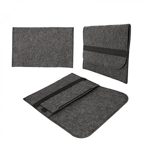 eFabrik Filz Tasche für Medion LifeTab P8314, P8312 | P8311 | S8312 | S8311 (8 Zoll) Tablet Schutz Hülle Dunkelgrau