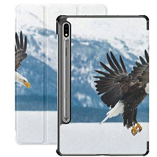 Eagle Hovering Over Snowy Mountains Carcasas para Samsung Galaxy Tab A para Samsung Galaxy Tab S7 / s7 Plus Funda Galaxy S7 con Soporte Carcasa Trasera Samsung Galaxy S7 Funda para