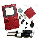 Oulekai Maoyi Whole Set Case Housing Red Color For Nintendo DMG-01 Classic Gameboy GB Shell With X/Y Screwdrivers Rubber Pads