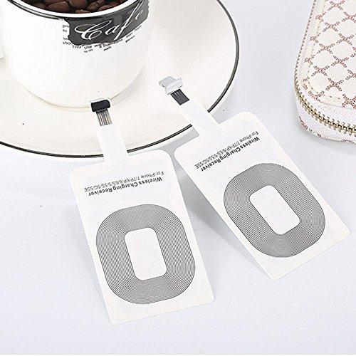 Teepao - Ricevitore di ricarica wireless Qi per iPhone 7/7 Plus/6s/6s Plus/6/6 Plus/5/5s/se/5c, caricabatterie wireless Qi per iPhone