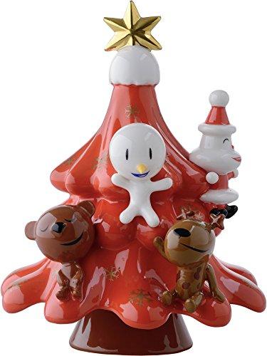 Alessi Weihnachttsschmuck, Porzellan, Rot, 12 x 13 cm