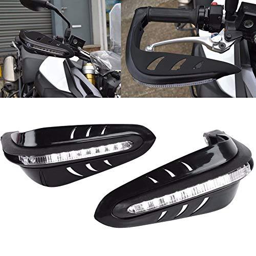 """LEAGUE&CO 5 Farben Motorrad Fahrräder Protektor Handschutz Handschützer 7/8\"""" mit LED Tagfahrleuchten für Harley Honda Yamaha Suzuki Kawasaki (Schwarz)"""