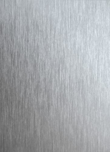 GAH-Alberts 465957 Glattblech - Aluminium, gebürstet in Edelstahloptik, 120 x 1000 x 0,5 mm