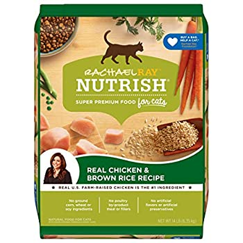 Rachael Ray Nutrish Premium Natural Dry Cat Food Real Chicken & Brown Rice Recipe 14 Pounds