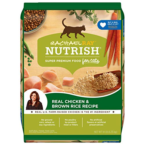 Rachael Ray Nutrish Premium Natural Dry Cat Food, Real Chicken & Brown Rice Recipe, 14 Pounds (Packaging May Vary)