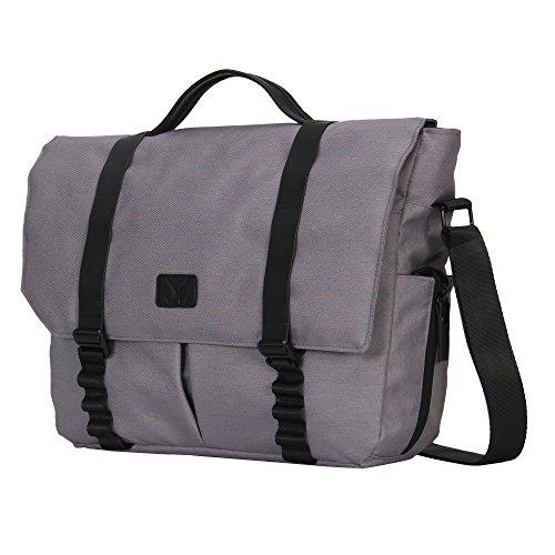 Hynes Eagle Laptop Messenger Bag for 15 inch Dark Gray