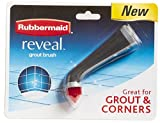 Rubbermaid Power Scrubber with All-Purpose Grout Head, Gray, Ideal for Grout Lines, Corners, Bathroom, Kitchen Cleaning