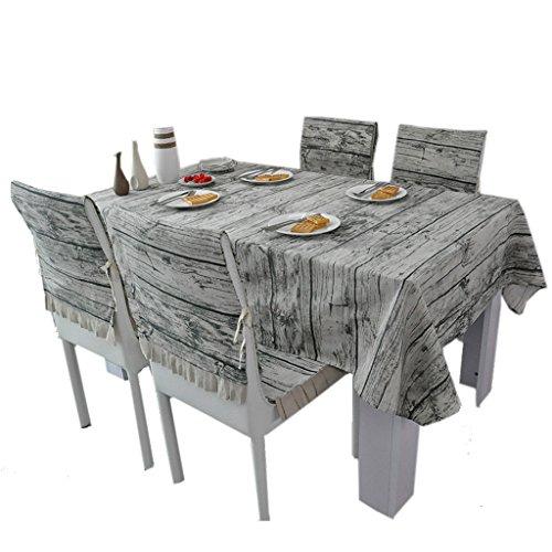 Nappe de grain de bois d'imitation, restaurant tissu nappe d'art fleurs salon nappe d'impression table à manger couleur pure nappe 150-220 CM (taille : 150 * 220CM)