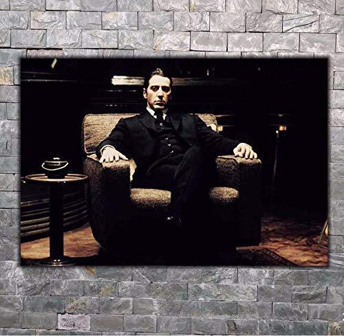 RUIYAN Leinwand Malerei Wandkunst Bild Al Pacino Pate 2 Mafia Movie Poster Drucken Leinwand Malerei Geschenk Ohne Rahmen 40 * 60 cm
