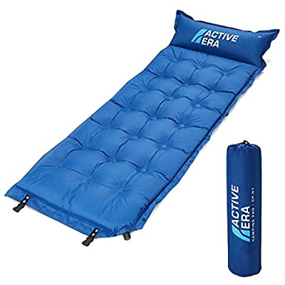 Active Era Premium Self-Inflating Camping Sleeping Pad with Durable Foam Core - Lightweight, Abrasion Proof & Water Resistant, Perfect for Backpacking & Hiking