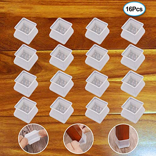 without Leaving Marks 32Pcs Silicone Chair Leg Leg Round Reet Pads Furniture Table Covers Floor Protectors Prevents Scratches and Noise