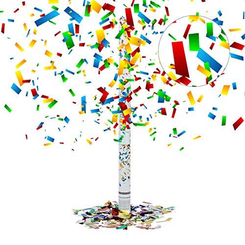 Relaxdays Party-Popper 80 cm, 6-8m Effekthöhe, Konfetti-Shooter, Hochzeit Konfetti-Kanone, Hochzeitsdeko, bunt