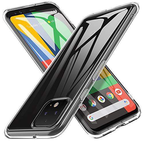 iBetter für Google Pixel 4 Hülle, Soft TPU Ultradünn Cover [Slim-Fit] [Anti-Scratch] [Shock Absorption] passt für Google Pixel 4 Smartphone,klar