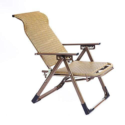 NBVCX Decoración de Muebles Tumbona de jardín Silla de jardín - Silla Plegable con Respaldo Ajustable - Sillón Relax Apto para Uso en jardín y terraza