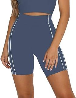 LEANI Women's Biker Shorts Soft Casual High Waisted Yoga Shorts Active Workout Running Shorts