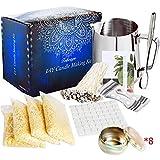 SaiXuan Kit de Fabrication de Bougies de Cire Bricolage,DIY Bougies, 50 mèches de Bougie,1 Pot de Fabrication,8 boîtes de Pots,56 Autocollants de mèche et 2 Supports