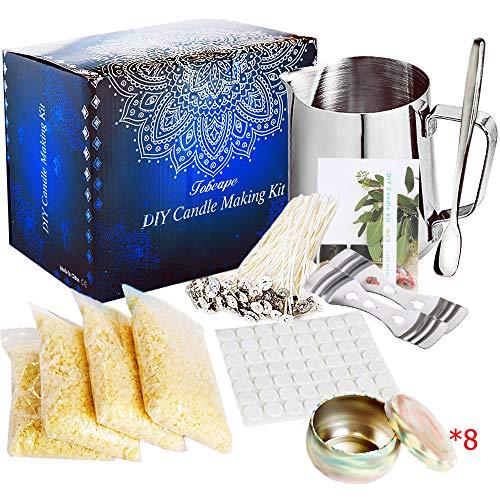 SaiXuan Kit per realizzare candele,Fabbricazione Candele Kit DIY Set Regalo per la Creazione di Candele Profumate,Strumenti Fai da Te per Candele con stoppini