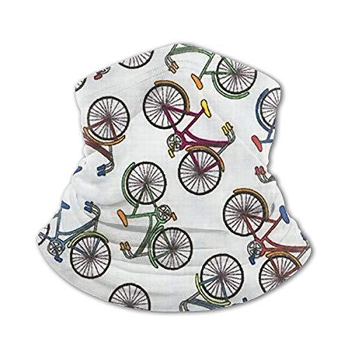 KXT Colored Bicycle Bike Youth Face Masks,Bandanas,Balaclava Ice Silk Scarf Neck Gaiters for Boys & Girls