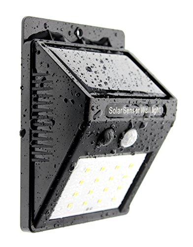Trango 16LED Lámpara solar lámpara de pared Lámpara de Seguridad con Detector de movimiento & Sensor de claridad proporcionan Auto Encendido/Apagado tgsol de yf16