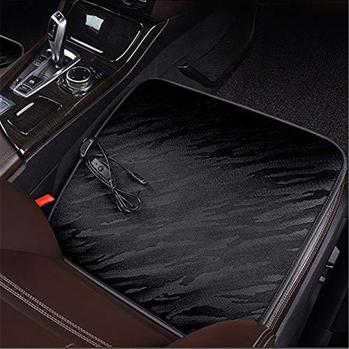 JWJDarin Stoelverwarming voor auto, 12 V, verwarmd zitkussen met tijd en temperatuur, universeel, voor auto, auto, vrachtwagen, camper