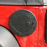 Rugged Ridge 11425.06 Gas Cap Door, Locking, Black Aluminum; 07-18 Jeep Wrangler JK