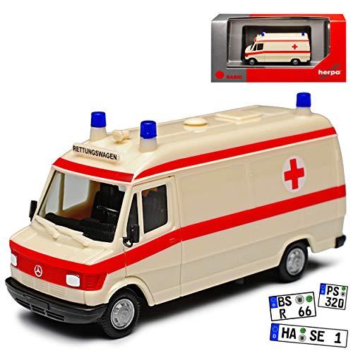 Mercedes-Benz T1 207D Transporter Krankenwagen Rettungswagen 1977-1995 H0 1/87 Herpa Modell Auto