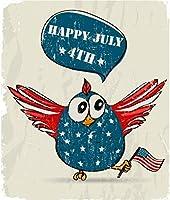 アメリカの国旗の動物を保持している1000ピースのジグソーパズル小鳥大人のための1000ピースのパズル子供大人の家の装飾