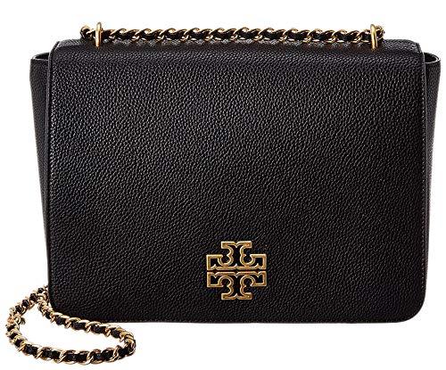 Tory Burch Britten Large Adjustable Shoulder Bag, Black/Rolled Gold