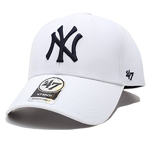 【B-MVP17WBV-WHD】 フォーティーセブンブランド 47BRAND CAP 帽子 MLB メジャーリーグ ニューヨーク ヤンキース ローキャップ 正規 (01)白 Fサイズ(男女兼用)