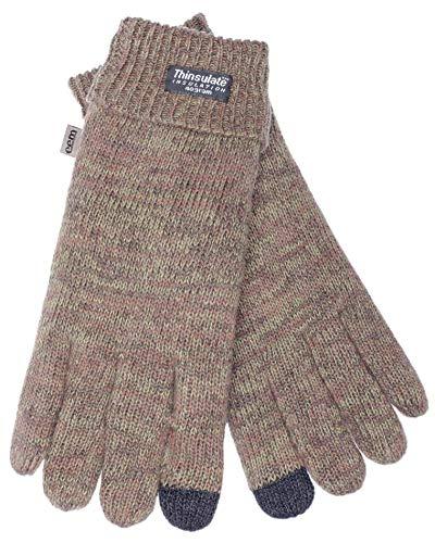 EEM Mannen gebreide handschoenen LASSE-IP met touch-functie en Thinsulate thermische voering van polyester, 100% wol of 100% katoen Het materiaal is afhankelijk van de kleur, smartphone