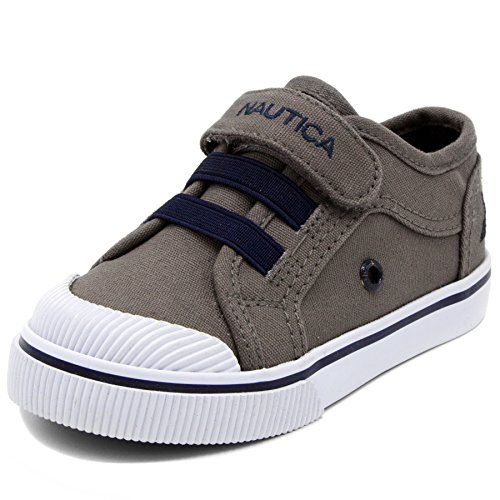 Nautica Tan and Navy Baby Boy Canvas Shoes