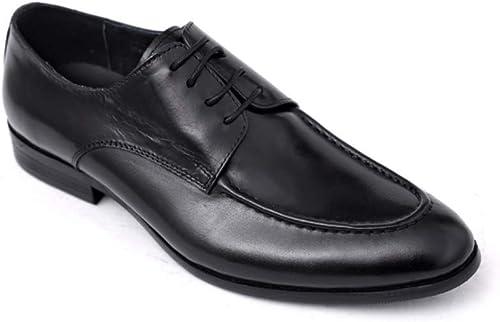 LYZGF hombres Caballeros Negocios Casual Elegante Elegante Puntiagudo Encaje zapatos De Cuero